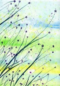 Deb's Garden - Original watercolor painting by Kirsten Bailey